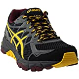 ASICS Men's Gel-Fujitrabuco 4 Neutral-M, Black/Spectra Yellow/Royal Burgundy, 6.5 M US