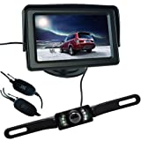 Buyee 4.3 Inch LCD Monitor +7LED Wireless Camera Car Rear View Kit