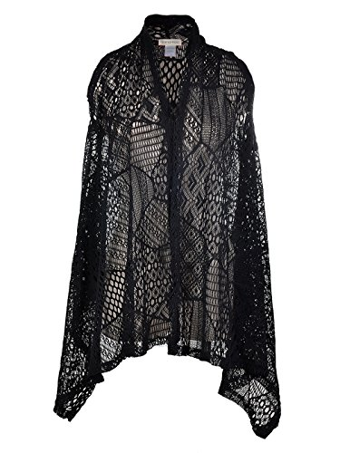 Anna-Kaci-Womens-Sleeveless-Open-Front-Crochet-Shawl-Cardigan-Bikini-Cover-Up-Black-X-LargeXX-Large
