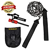 SOS Gear Pocket Chainsaw and Fire Starter - Survival Hand Saw in...