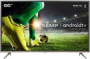 "Smart TV LED 50"" SEMP SK8300 Ultra HD 4K HDR, Android, Wi-Fi, Chromecast Inte"