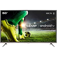 "Smart TV LED 50"" SEMP SK8300 Ultra HD 4K HDR, Android, Wi-Fi, Chromecast Integrado"