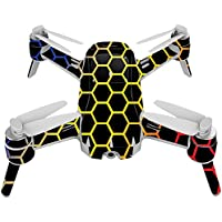 Skin For Yuneec Breeze 4K Drone – Primary Honeycomb | MightySkins Protective, Durable, and Unique Vinyl Decal wrap cover | Easy To Apply, Remove, and Change Styles | Made in the USA
