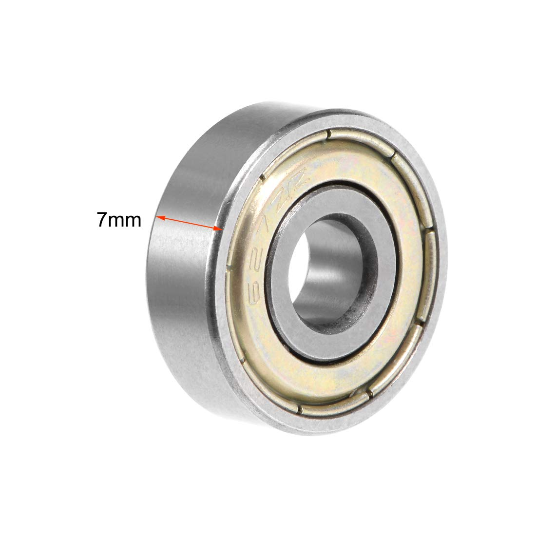 uxcell/® 10 Pcs 628ZZ Single Row Sealed Deep Groove Ball Bearings 8 x 24 x 8mm