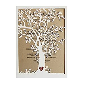 amazoncom laser cut tree wedding invitation fall With amazon fall wedding invitations