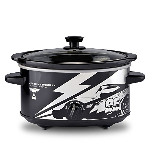 Disney Pixar Cars DPC-40 Slow Cooker, 4 Quart, Black