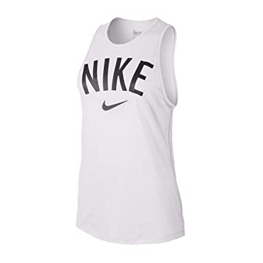 f872398b0 Nike Womens Tomboy Graphic Training Tank Top White Black 648577-100 Size X-