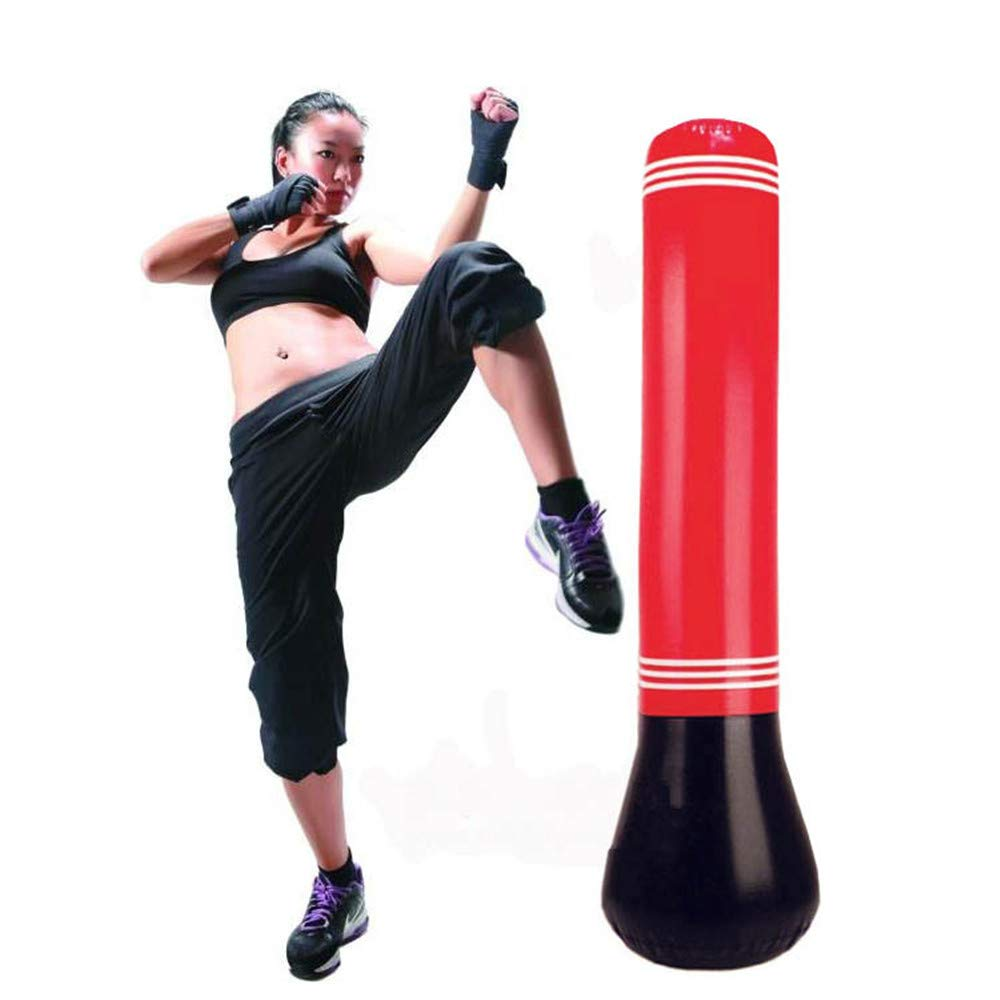 入荷中 1.5m/59インチ 圧力リリーフ フィットネス パンチング トレーニング インフレータブル サンドバッグ MMA パンチング MMA ボクシングバッグ スピード フリースタンド タンブラー 圧力リリーフ ボクシングサンドバッグ B07KX36M69, 下條村:02f56ad2 --- a0267596.xsph.ru