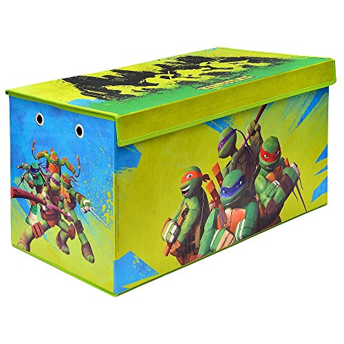 (Teenage Mutant Ninja Turtles Folding Soft Storage Bench, Perfect Toy Box or Chest for Playrooms, Officially Licensed Product)