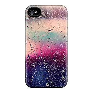 Bernardrmop Premium Protective Hard Case For Iphone 4/4s- Nice Design - Glass Rain Droplets Colorful High Quality