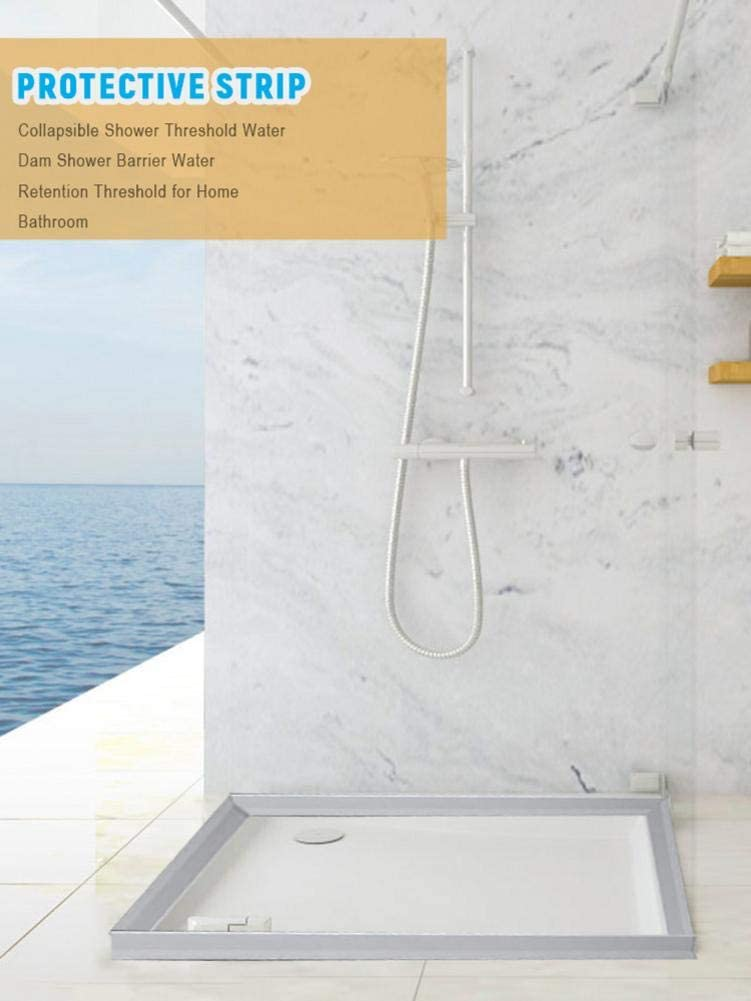 Explea Umbral de Ducha Plegable Presa de Agua Barrera de Ducha y Sistema de retenci/ón y tap/ón de Agua Designer Polite