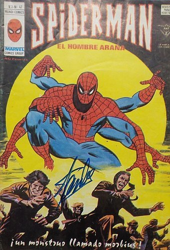 stan-lee-signed-autographed-spider-man-el-hombre-arana-comic-book-jsa-authentic-signed-autograph