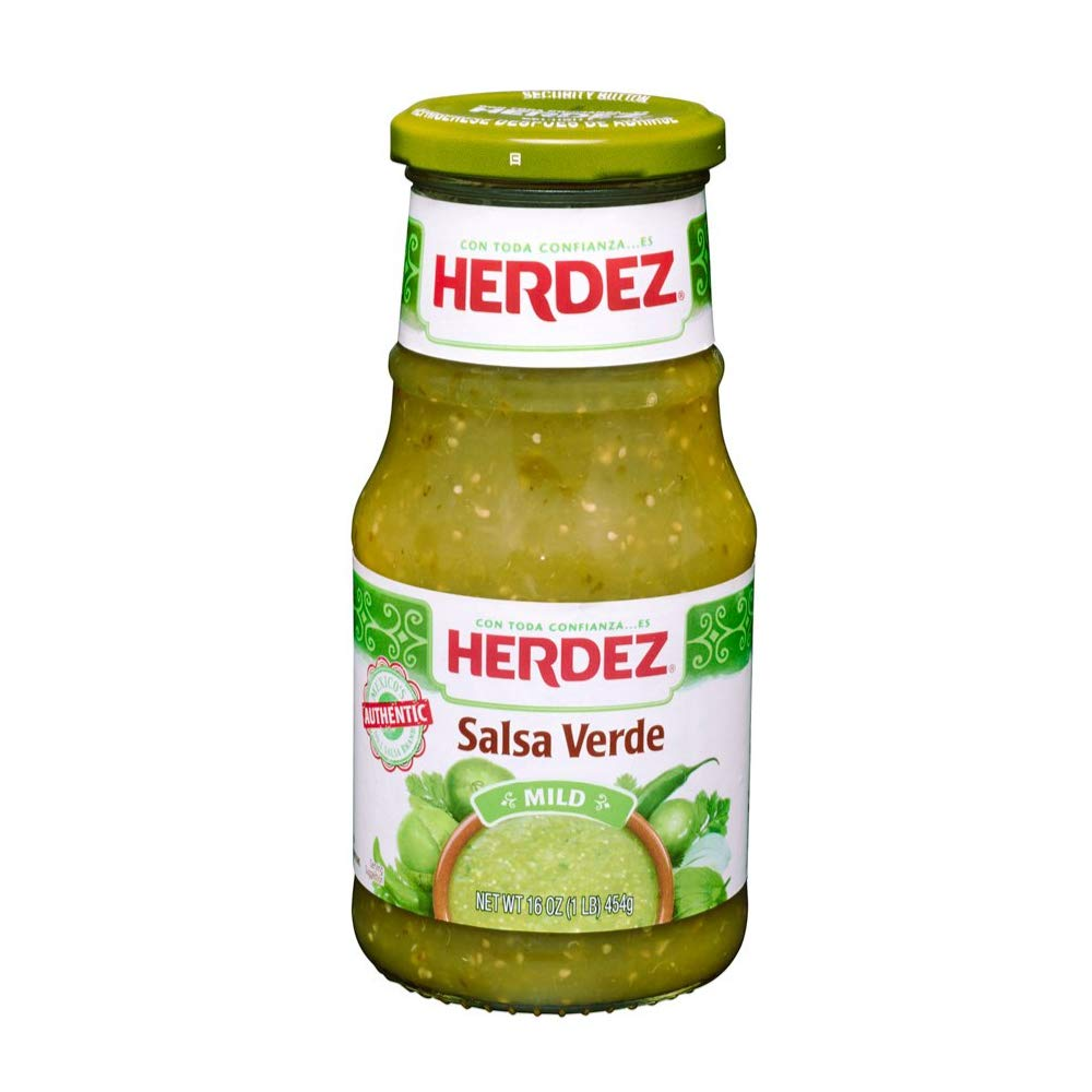 Amazon Com Herdez Salsa Verde Mild Mexican Green Sauce Excellent For Tacos Quesadillas Eggs And Any Other Mexican Food You Can Think Of 16 Oz Bottle Grocery Gourmet Food