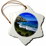 big ornaments - 3dRose orn_61998_1 Big Island of Hawaii-Snowflake Ornament, Porcelain, 3-Inch