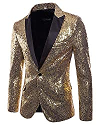 Men's Slim Fit Sequins Dress Coat