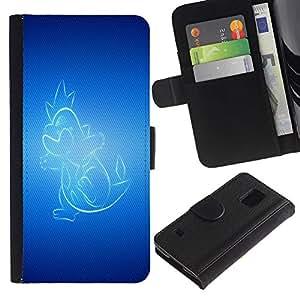 UNIQCASE - Samsung Galaxy S5 V SM-G900 - Glowing Dragon - Cuero PU Delgado caso cubierta Shell Armor Funda Case Cover
