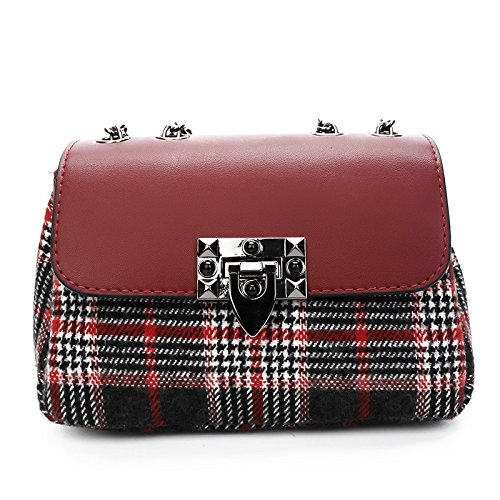 Gules De gules Single Invierno Y Cuadrada El Red Otoño Shoulder En Woman incense Bag Lock El Satchel AwxfWZqa6