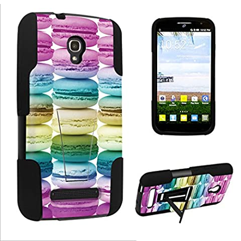 DuroCase Alcatel One Touch POP Mega LTE A995G Kickstand Bumper Case - (Sweet Macaroons) (Alcatel A995g Wallet Case)
