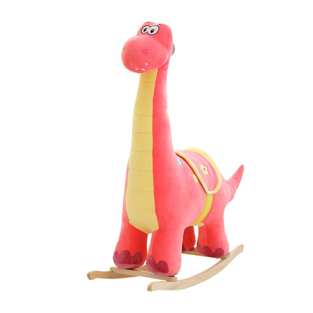Cavallo a dondolo HUYP Regalo del Giorno dei Bambini Multi-Funzione del Ragazzo Modo Sveglio di Moda (colore   rosa)