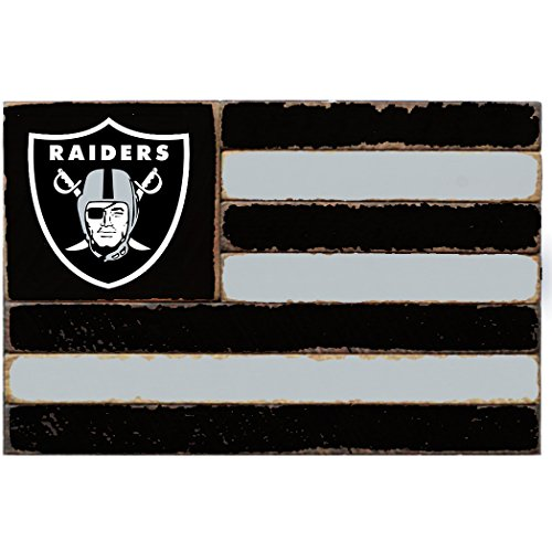 - Rustic Marlin Designs NFL Oakland Raiders Team Flag Sign, 13