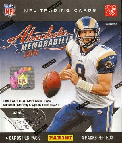 2011 Panini Absolute Memorabilia Football HOBBY box (4 pk) ()
