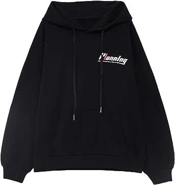 Women's Warm Hoodie Long Sleeve Pullover Coat Kangaroo Pocket Loose Casual Sweatshirts