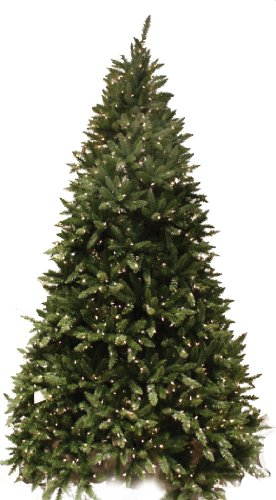 Christmas Tree Tidings Good (Good Tidings 7.5Ft Douglas Fir Artificial Prelit Christmas Tree, Clear Lights)