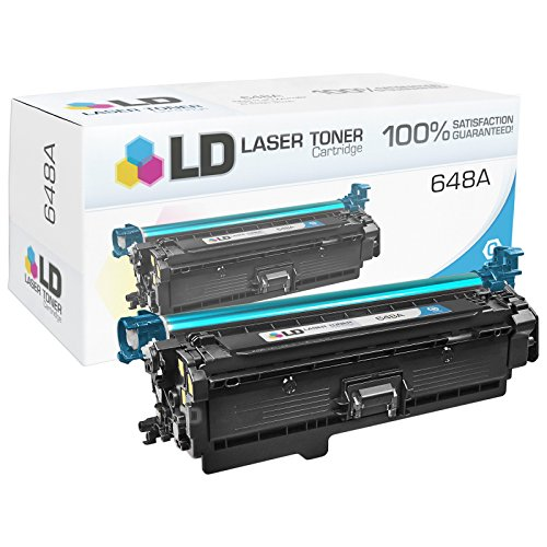 LD © Remanufactured Replacement for HP 648A / CE261A Cyan Toner Cartridge for Color LaserJet Enterprise CP4025dn, CP4025n, CP4525dn, CP4525n, CP4525xh