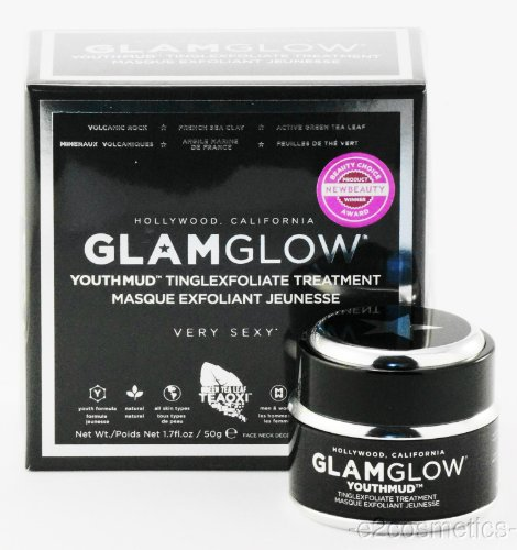 GLAMGLOW YOUTHMUD Mask Tinglexfoliate Treatment (1.7 oz / 50 g) (Eye Glitter Mask)