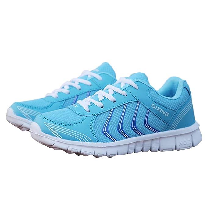 ❤ Hombres Zapatillas de Running, Moda Mujer Sports Transpirable Mesh Ligero Wearable Flat Absolute: Amazon.es: Ropa y accesorios