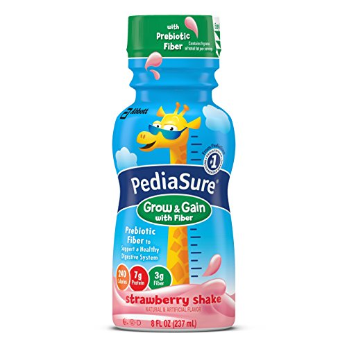 PediaSure Grow & Gain Nutrition Shake with Fiber For Kids, Strawberry, 8 fl oz, 24 Count