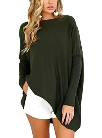 Minetom Damen Herbst Winter Minikleid Pullover Sweater Strickkleid Sexy  Mode Elegant Langarm Strickpullover Lang Hemd  Amazon.de  Bekleidung b35719427d