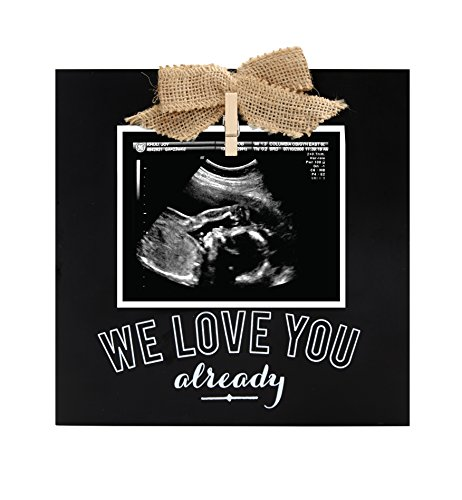 Little Blossoms by Pearhead Keepsake Chalkboard Baby Ultrasound Picture Frame, Sonogram Frame, New Parents Gift, Black (Best Pregnancy Announcement Photos)