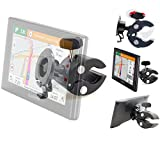 Heavy Duty Bike Motorcycle Clamp Mount Holder for Garmin Nuvi 52LM 54 55LMT 56LMT 57LMT 58LMT 66 67 68 2557 2559LMT 2589 2597 2598 Drive DriveSmart 51 60 61 LMT T GPS