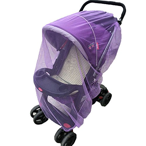 Zooper Stroller Accessories (Baby Carriages Anti-mosquito Nets Baby Stroller Mosquito Net All Cover Protection Mesh Pushchair Accessories (Purple))