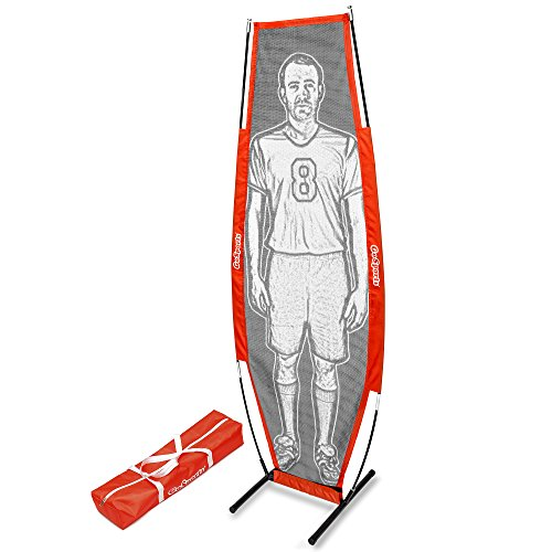 (GoSports Soccer Xtraman Dummy Defender Training Mannequin | Practice Free Kicks, Dribbling and Passing Drills )