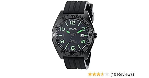 Amazon.com: Pulsar Mens PS9317 Analog Display Japanese Quartz Black Watch: Watches