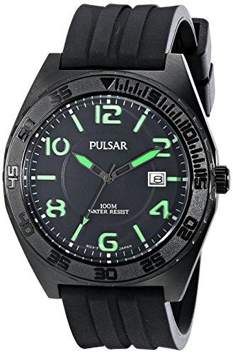 Watch Yellow Pulsar - Pulsar Men's PS9317 Analog Display Japanese Quartz Black Watch