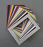 Pack of 50 5x7 Picture Mats with White Core Bevel Cut for 4x6 Pictures Various Colors