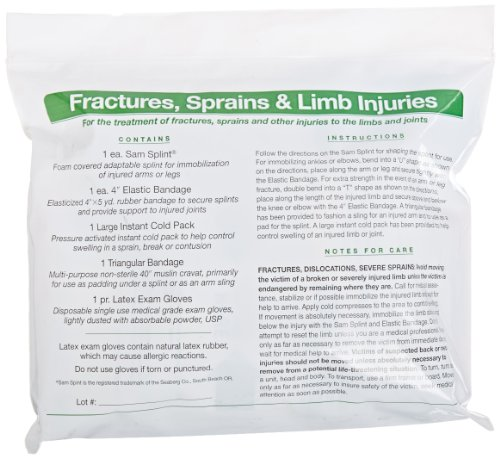 Pac-Kit by First Aid Only 71-140 6 Piece Sam Splint Limb ...