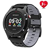 Smart watch,Sports Watch with Altimeter/ Barometer/Thermometer and Built-in GPS,Fitness Tracker for Running,Hiking and Climbing ,IP67 Waterproof Heart Rate Monitor for Men, Women and Adventurer (grey)