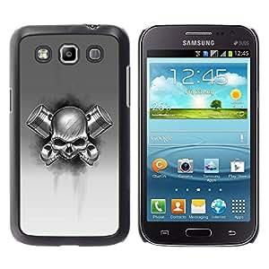 Paccase / SLIM PC / Aliminium Casa Carcasa Funda Case Cover para - skull gas black white metal death rock - Samsung Galaxy Win I8550 I8552 Grand Quattro