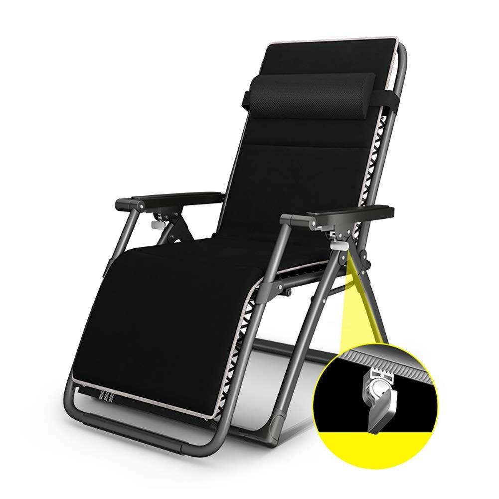ラウンジチェア 特大長椅子調節可能、室内重力ゼロ、リクライニング、寝室、キャンプ、ビーチ、芝生 B07S9HQTGJ
