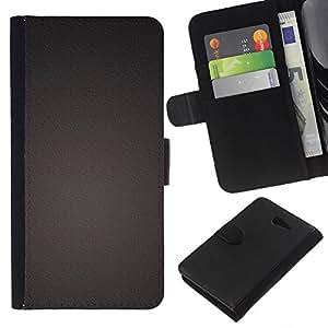 KLONGSHOP // Tirón de la caja Cartera de cuero con ranuras para tarjetas - Uniforme color Una textura del metal - Sony Xperia M2 //