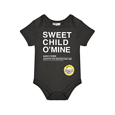 851b727293fb Amplified Guns n Roses Sweet Child of Mine Short Sleeve Bodysuit Baby Grow  - Unisex:
