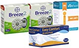 Bayer Breeze Test Strips 100 Count, 100 Slight Touch Lancets and 100 Slight Touch Alcohol Swaps