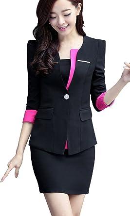 Amazon Com Kangqifen Women S Slim Fit Overalls Office Skirt Suit