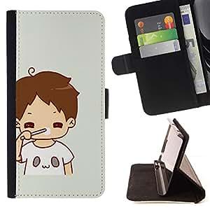Momo Phone Case / Flip Funda de Cuero Case Cover - Kid mamá Madre Dulce bebé - LG G4 Stylus H540