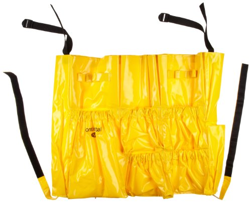 Continental Round Trash Can - Continental 3175 Yellow Vinyl Huskee Caddy Bag
