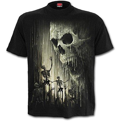 Spiral - WAXED SKULL - Männer Kurzärmeliges T-Shirt.
